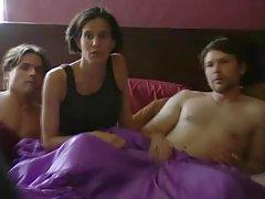 Balkonda seks voyeur izlerken Çift